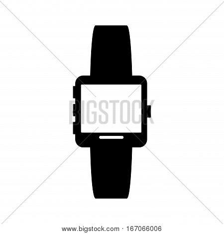 Black smartwatch image design, vector illustration icon