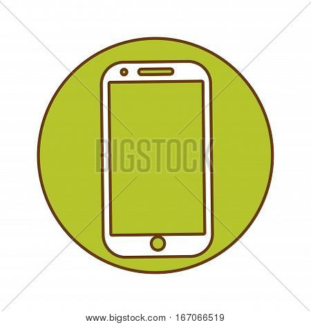 Green symbol smartwatch with aplications button image, vector illustration