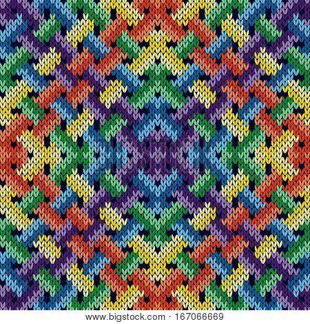 Seamless Knitting Intertwined Pattern