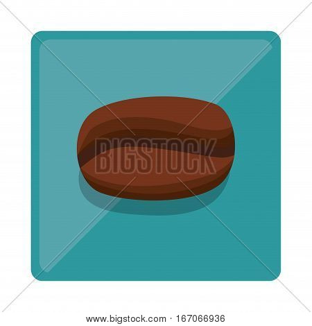 Brown grain coffee icon design, vector illustration image