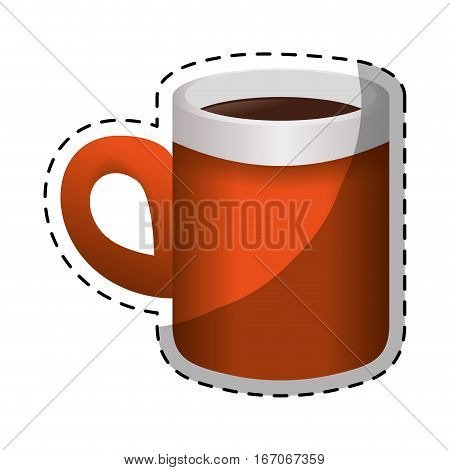 Orange coffee cuppa design image, vector illustration