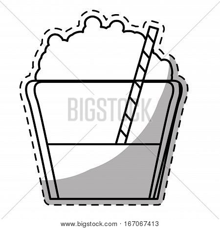 Figure mocha glass icon image, vector illustration