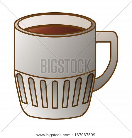 Gray coffee cuppa design image, vector illustration icon