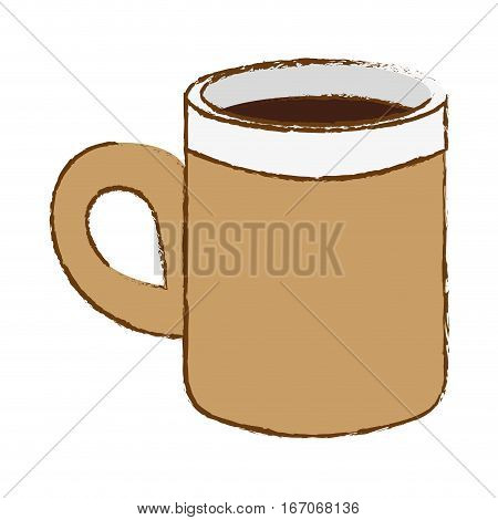 Beige coffee cuppa design image, vector illustration