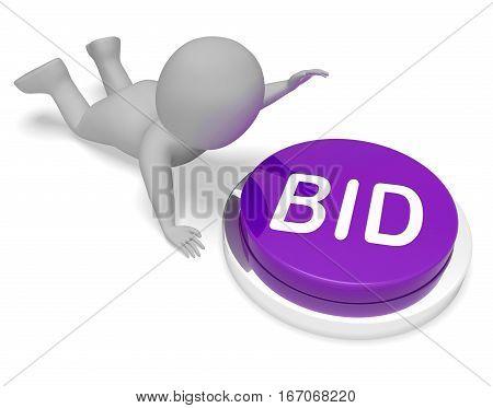 Bid Button Shows Auction Bidder And Auctioning