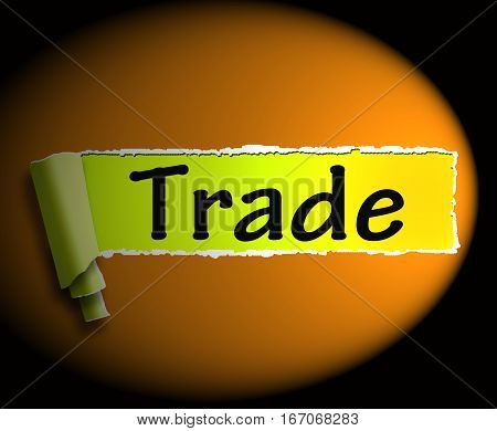 Trade Word Shows Online Buying Selling 3D Rendering
