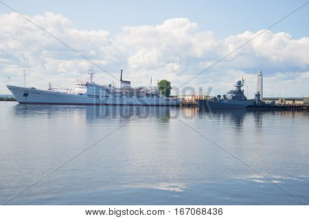 ST. PETERSBURG, RUSSIA - JULY 18, 2015: The oceanographic research vessel