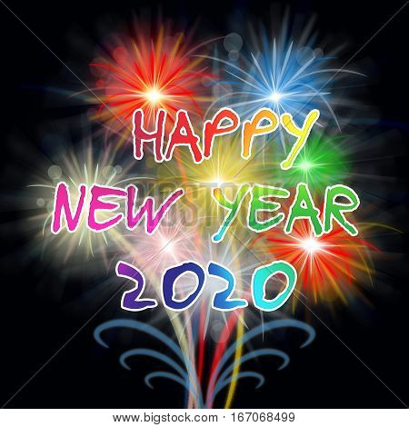 Happy New Year 2020 Fireworks Shows Pyrotechnics Celebration