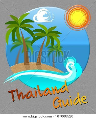Thailand Guide Means Asian Tourist Guidebook Holiday