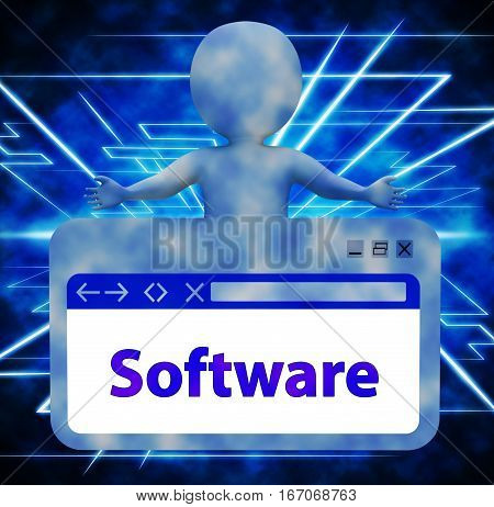 Software Webpage Representing Browsing Programs 3D Rendering