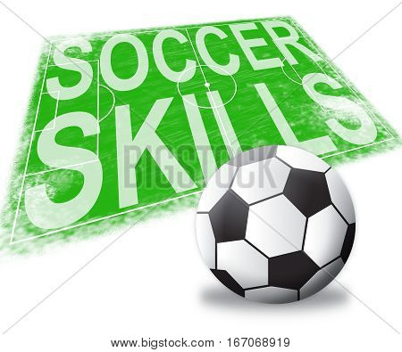 Soccer Skills Shows Football Expertise 3D Illustration