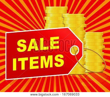 Sale Items Meaning Discount Promo 3D Illustration