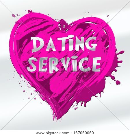 Dating Service Showing Online Love 3D Illustration