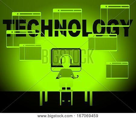 Technology Computer Representing High Tech 3D Illustration