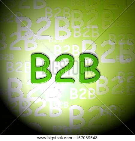 B2B Words Shows Business And Corporate Client
