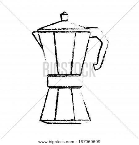 Contour metail moka pot icon, vector illustration image