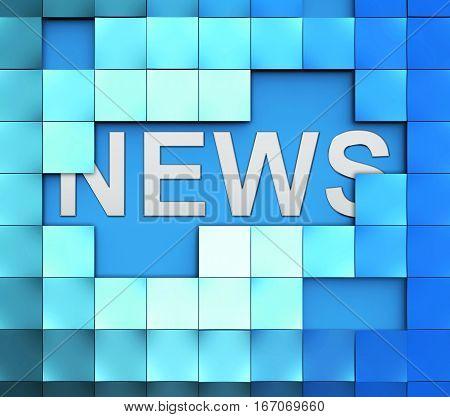 News Blocks Displays Reporting Media And Bulletin