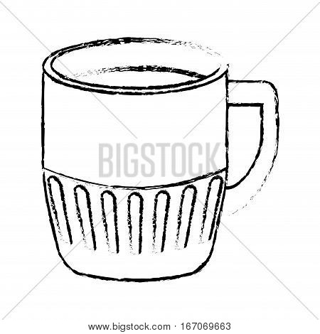 Contour coffee cuppa design image, vector illustration icon