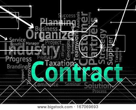 Contract Word Shows Deal Understanding And Deals