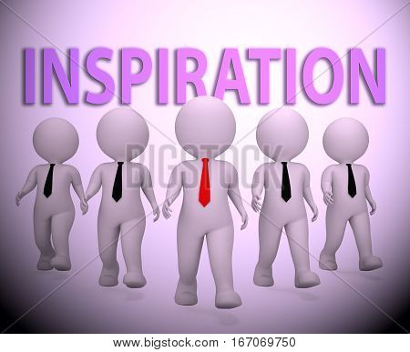Inspiration Businessmen Indicating Positive Motivate 3D Rendering