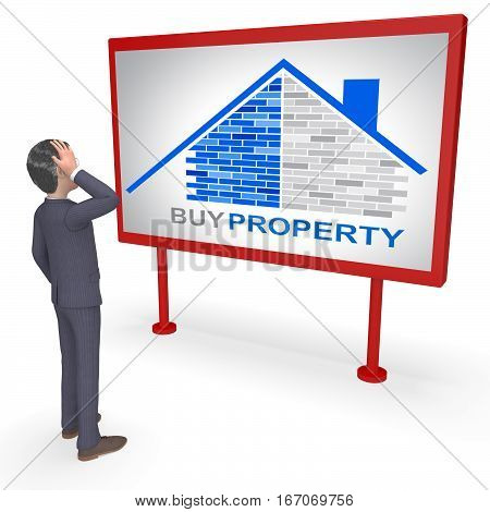 Buy Property Represents Real Estate 3D Rendering