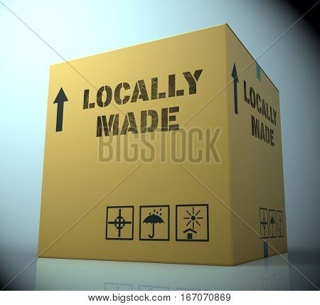 Locally Made Representing Local Merchandise 3D Rendering