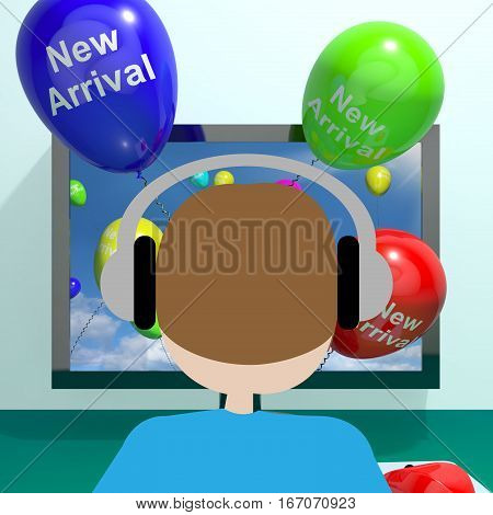 New Arrival Balloons From Computer 3D Rendering