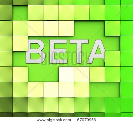Beta Software Word Represents Versions Version And Shareware