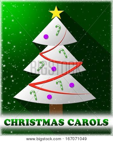 Christmas Carols Shows Xmas Music 3D Illustration