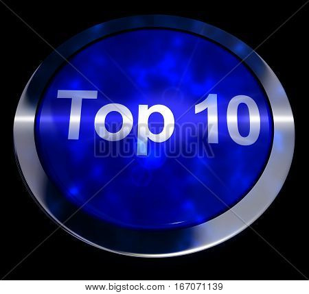 Top Ten Button Showing Best Rated 3D Rendering