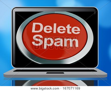 Delete Spam Button For Removing Email 3D Rendering