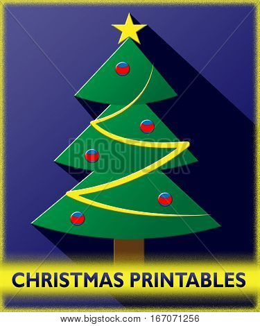 Christmas Printables Shows Xmas Picture 3D Illustration