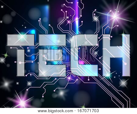 Electronic Circuit Showing Hi Tech And Computing