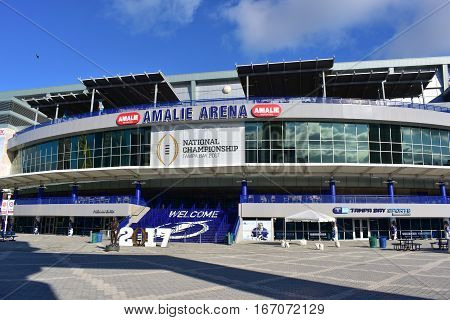 Tampa, Florida - Usa - January 07, 2017: Tampa, Florida - Usa - January 07, 2017: Amalie Arena