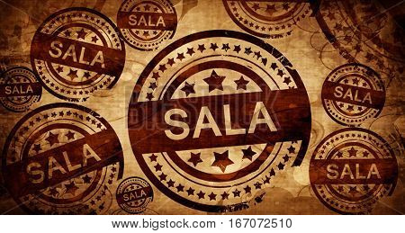 Sala, vintage stamp on paper background