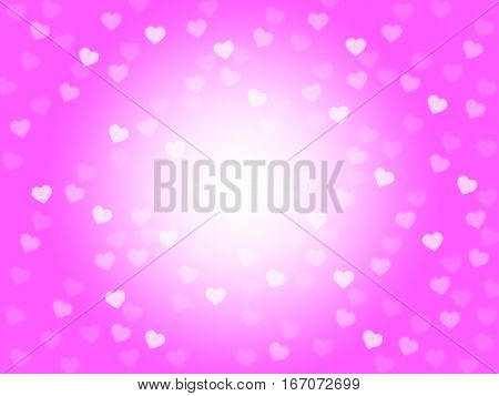Mauve Hearts Background Shows Romantic And Passionate Wallpaper