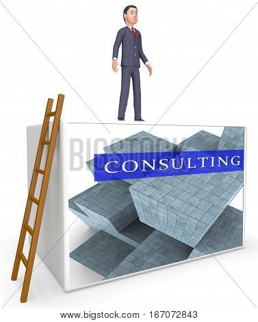 Consulting Words Represent Seek Advice 3D Rendering