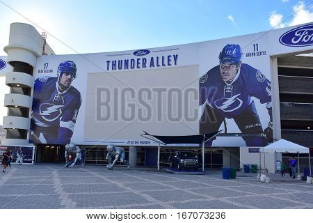 Tampa, Florida - Usa - January 07, 2017: Thunder Alley
