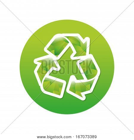 Green symbol recycle reuse reduce icon image design