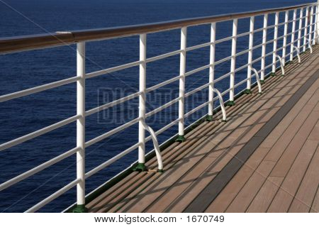 White Deck Rail