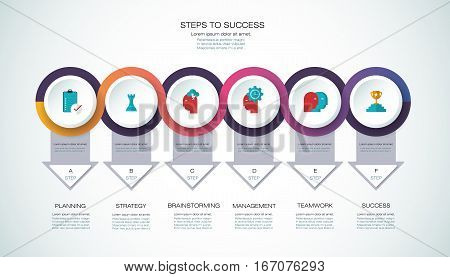 Vector Infographic Template  Business Concept With Options 1-17-17