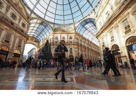 Galleria Vittorio Emanuele Ii Arcade In Milan