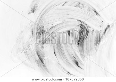 White Brush Strokes Paint Pattern