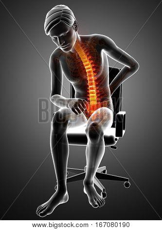 Male Feeling The Back Pain