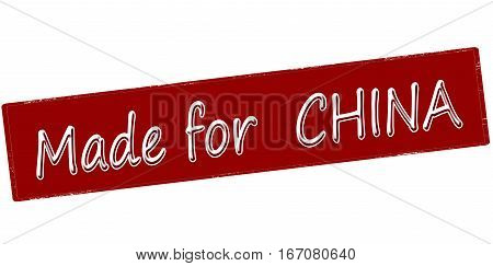 Stamp with text made for China inside vector illustration
