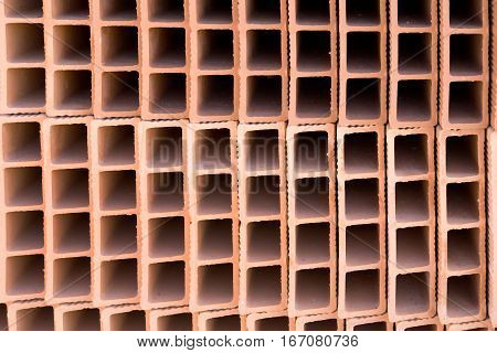 Stack Of Hollow Bricks