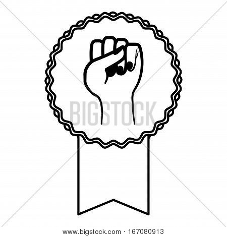 hand feminism related icons image vector illustration design