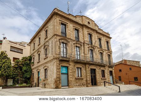 Calafell Spain - May 22 2016: City council of the city of Calafell. Catalonia Tarragona region Spain