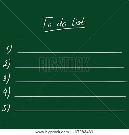 Vector Chalk To Do List