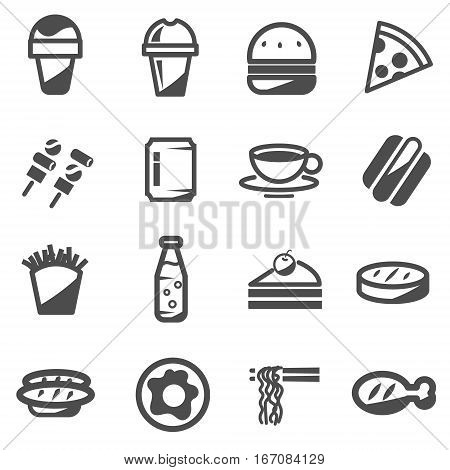 fast food take away delivery food vector icon ,